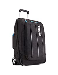 Case Logic TCRU-115 Thule Crossover 38-Liter Rolling Carry-On with Laptop Compartment, Black