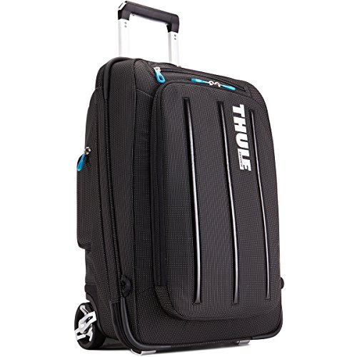 Thule Crossover 38 Liter Rolling Carry-On with Laptop Compartment, Black (TCRU-115) by Thule
