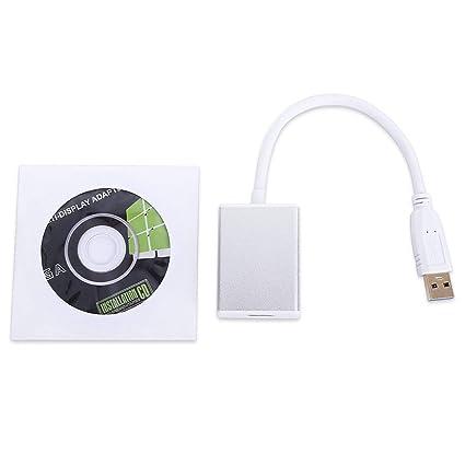 WOSOSYEYO Adaptador de convertidor USB 3.0 a HDMI Cable de ...