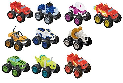 Fisher-price Nickelodeon Blaze and the Monster Machines Vehicle Complete Set of 10