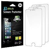 JETech® 3-Pack Displayschutz für iPhone 6 4.7' Schutzfolie Screen Protector stressfreie, Blasenfreie Installation, Anti-Fingerabdruck (HD Klar)