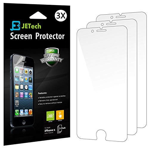 iPhone 6 Screen Protector, JETech 3-Pack iPhone 6S/6 Screen Protector Film HD Clear Retail Packaging for Apple iPhone 6s and iPhone 6 4.7 Inch (HD Clear) - - Protectors Screen