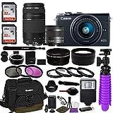 Canon EOS M100 Mirrorless Digital Camera (Black) Bundle w/Canon...