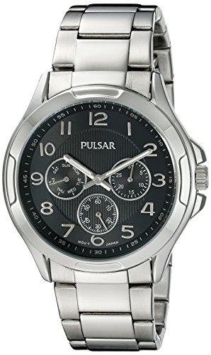 (Pulsar Men's PP6207 Chronograph Analog Display Japanese Quartz Silver Watch)
