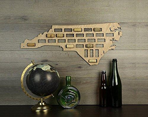 WenNuNa Wine Cork Traps State of North Carolina Wine Cork Decorative Wooden Organizer Cork Holder - North Carolina Wine