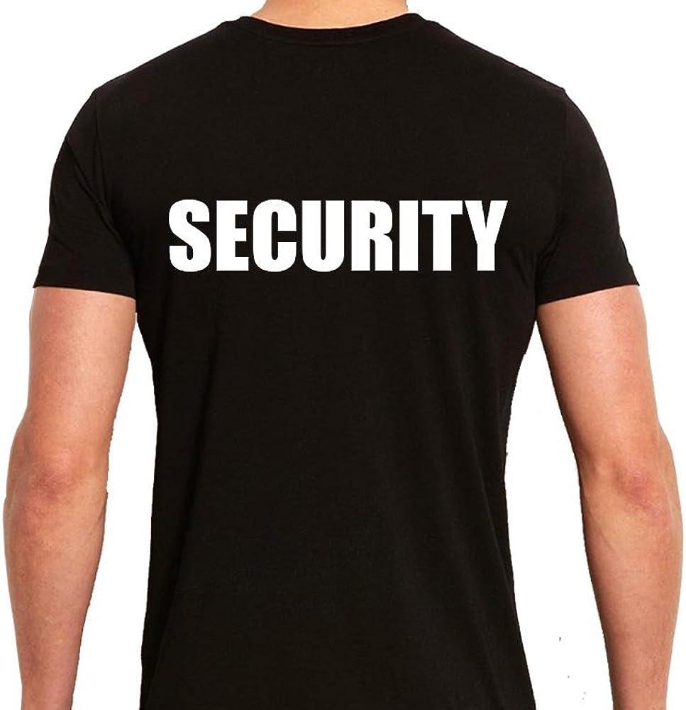 Technik Apparel Security T-Shirt Event Staff Front and Back Vinyl Print Black Unisex Tee