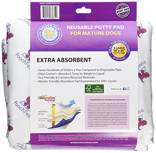 PoochPad for Mature Dogs, X-Large 36-Inch by 36-Inch by PoochPad (Image #1)