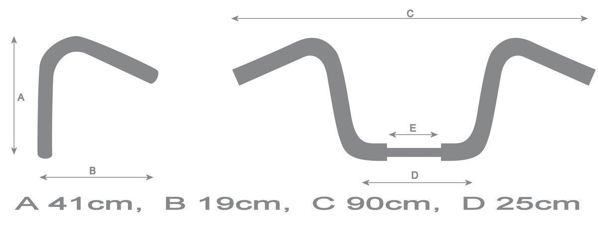 22mm 7//8 16 High Ape Hanger Motorcycle Handlebars Diameter Chrome Finish