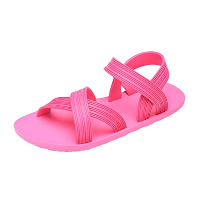 08fa7407d12fe8 VEMOW Sandals for Women Girls Ladies 2018 Spring Summer UK Sexy Bohemia  Cute Beach Home Party Club Black Pink PVC Fashion Candy Colored Jelly Soft  Shoes ...