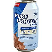 Pure Protein 35g Shake - Cookies and Cream, 11 ounce, (Pack of 12)