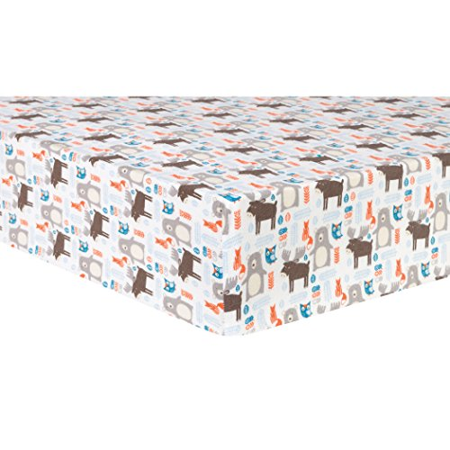 Trend Lab Scandi Forest Deluxe Flannel Fitted Crib Sheet by Trend Lab