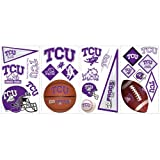 RoomMates RMK1110SCS Texas Christian University Peel & Stick Wall Decals