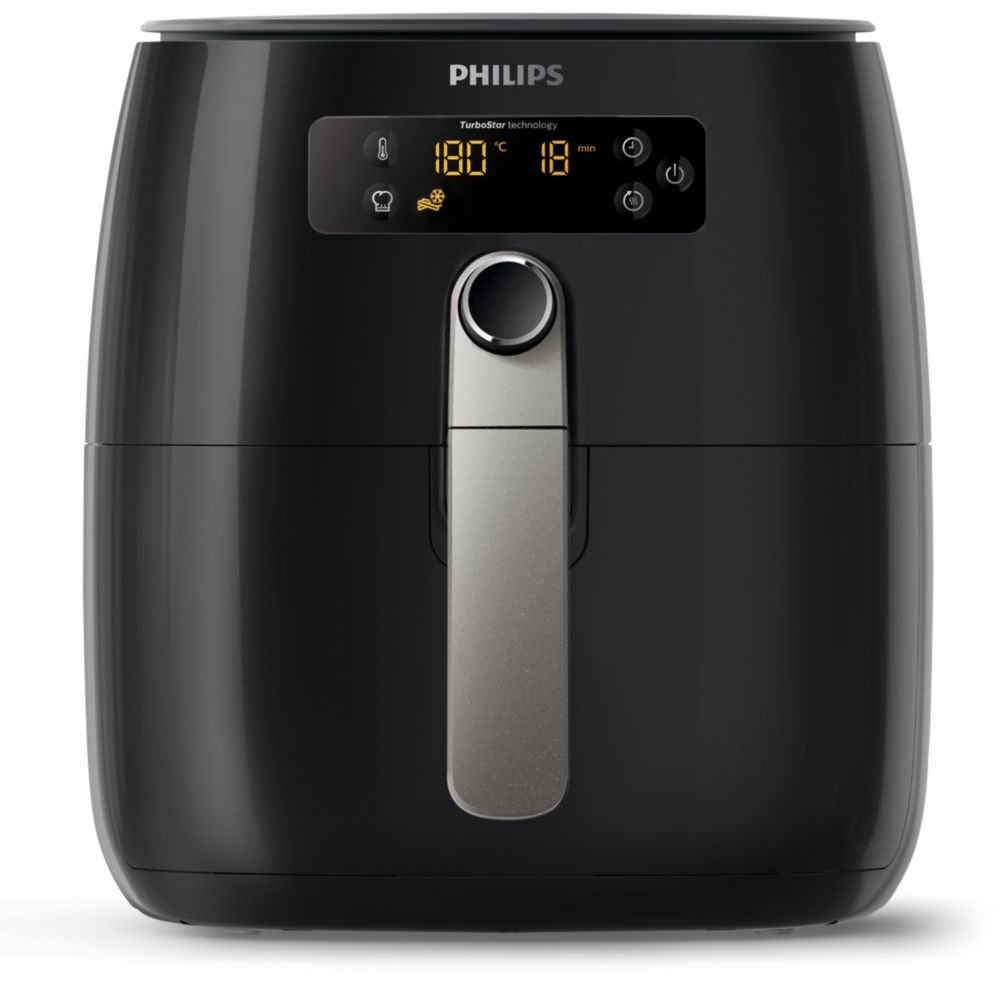 Philips Avance Collection HD9643/10 friggitrice Low fat fryer Singolo Nero, Argento Indipendente 1425 W