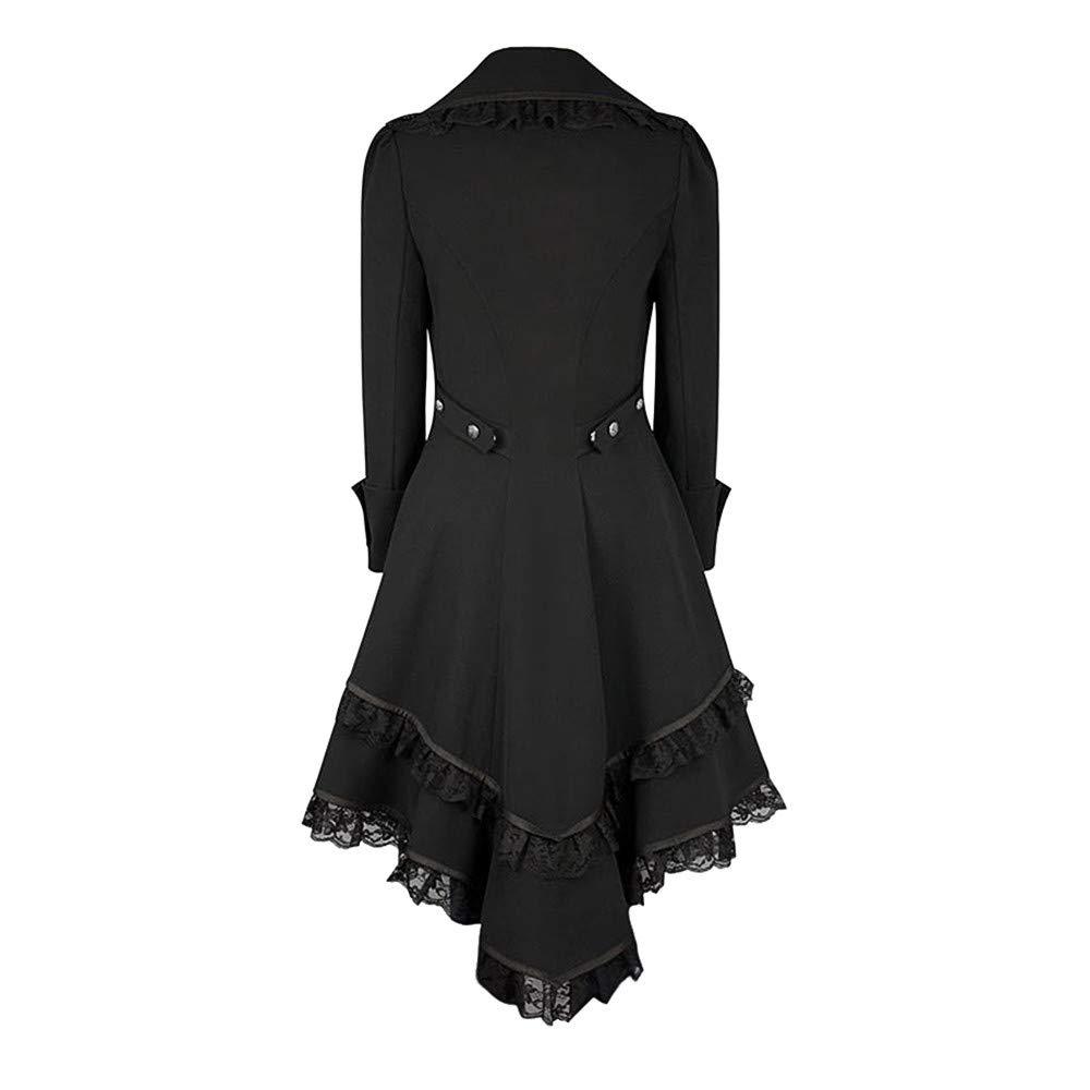 Winwintom Mujer Invierno Abrigo, Tuxedo Steampunk Vintage para Mujer Abrigo De Swallowtail Victoriano Encaje Recoger Cintura: Amazon.es: Ropa y accesorios