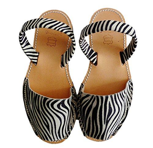 Authentische Menorcan Sandalen, avarcas menorquinas verschiedene Farben abarcas sandalias Cebra