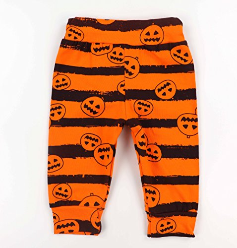 Oklady 3Pcs/Outfit Set Baby Boy Girl Infant My First Halloween Rompers(0-3 Months)