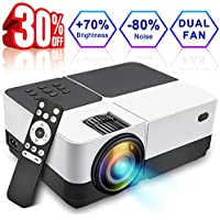Wsiiroon LCD Projector, 2018 Newest 2500 Lumens Portable Movie Video Projector, Dolby Surround Sound Home Theater LED Projector Support 1080P HDMI VGA AV USB MicroSD with 170 Display - 45,000 Hrs
