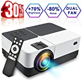 """Wsiiroon LCD Projector, 2018 Newest 2500 Lumens Portable Movie Video Projector, Home Theater LED Projector Support 1080P HDMI VGA AV USB MicroSD with 170"""" Display - 45,000 Hrs"""