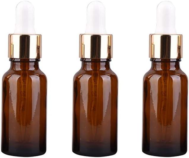 Zhou Botella cosmética a Prueba de luz, Vidrio con gotero de rocío Puro plástico Cabeza maqueta Sub-Botella aprobados for el Equipaje de Mano YAN (Size : 30ml)
