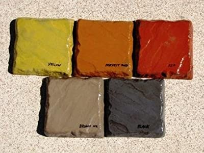 5 Lbs. Mixed (1 LB. EACH-YL,UM,RD,GD,BK) Powdered Color for Concrete, Cement, Mortar, Grout, Plaster