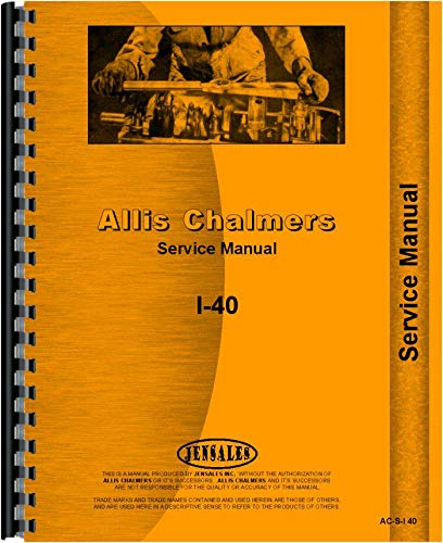 Read Online Allis Chalmers I-400 Industrial Tractor Service Manual pdf