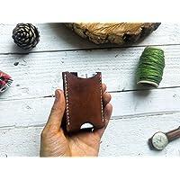 Tarjetero sencillo color café minimalista 100% piel hombre billetera cartera