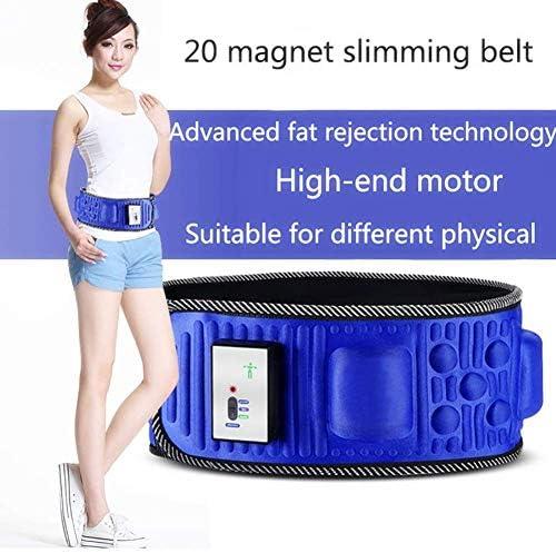 AMITD Elektrisches Abnehmen Massage Gürtel, Taillen-Bauch, Der Massager Abnimmt, mit 5 Motoren 20 Gesunde Magnete Fettverbrennung Gewichtsverlust für Fitnessmassage