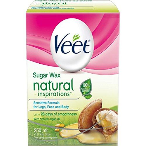 VEET Natural Inspirations SUGAR WAX: Sensitive Formula with