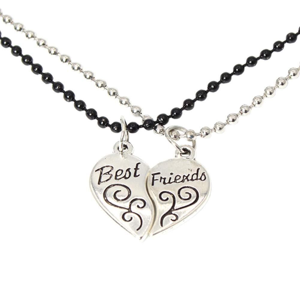 2 x Halskette BFF best friends Freundschaftkette Herz Set