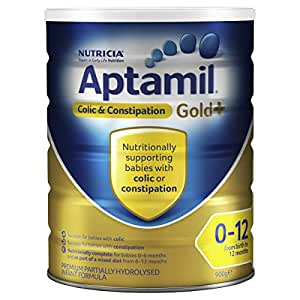 Aptamil Gold+ Infant Formula Colic & Constipation (from Birth to 12 Months), 900 g