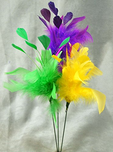 Assorted Feather Spray Picks Made From Real Natural Feathers - Fun for Decorating - 12 Total Sprays