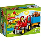 Lego 10524 - DUPLO - Jeu de Construction - Le Tracteur de la Ferme