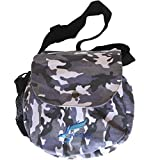 Kestrel Disc Golf Bag | Fits 12 Discs + Bottle | for Beginner and Advanced Disc Golf Players | Extremely Durable Canvas | Disc Golf Bag Set | Frisbee Golf Bag (Gray Camo)