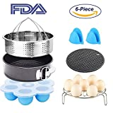 6 Pcs Instant Pot Accessories Set for 5,6,8 Qt Instant Pot Pressure Cooker with Steamer Basket Egg Steamer Rack Non-Stick Springform Pan Egg Bites Molds