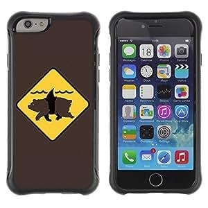 Hybrid Anti-Shock Defend Case for Apple iPhone 6 4.7 Inch / Bear Shark wangjiang maoyi