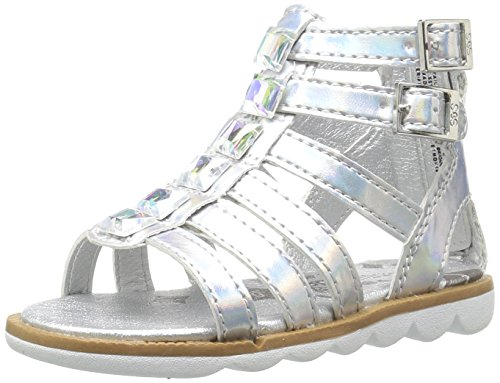 Silver Step & Stride Girls' Renee Gladiator Sandal