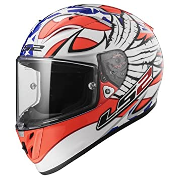 LS2 Casco Moto FF323 Arrow R EVO Freedom, blanco/naranja, ...