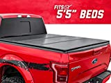 Rough Country Hard Tri-Fold (fits) 2015-2020 F150 | 5.5 FT Bed | Folding Truck Tonneau Cover | 45515550