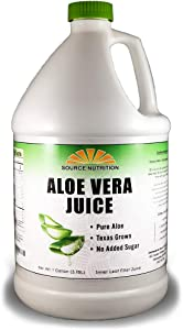 Pure Aloe Vera Juice - for Acid Reflux, Heartburn, Digestion Support - 1 Gallon, Inner Leaf Filet