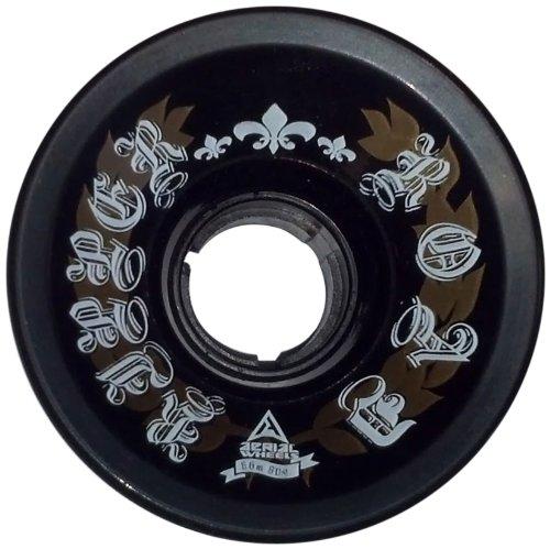 Aerial Wheels Road Ripper Longboard Wheels (juego de 4), durómetro 66 x 49 mm / 80, negro / dorado / blanco