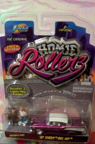 - Jada Toys Homie Rollerz 1:64 Scale 57 Chevy Impala w/ Sad Boy & Topo