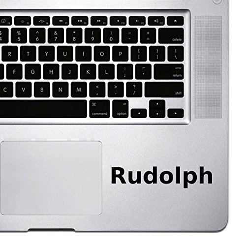 (2x) StickAny Palm Series Rudolph Sticker for Macbook Pro, Chromebook, and Laptops ()