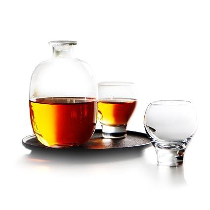 Creativa transparente agua chill gran capacidad claro plomo-botella de vidrio libre bebida fría jarra