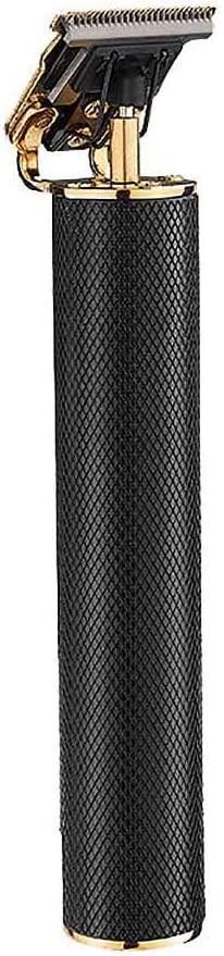 Bascar 2020 - Cortapelos eléctrico para hombre, recortador de pelo eléctrico Pro T-Outliner, cortapelos para hombre, fibra de carbono, Powerful, bronce, negro