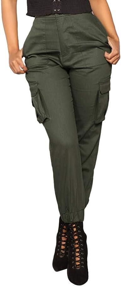ITISME Jeanshosen Pantalon Cargo Femmes Soild