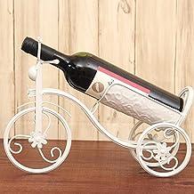 XQXCreative wine racks wine rack vintage wrought-iron decoration fashion simple wine bottle holder , bike white