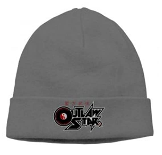 2f17db97e26 Face BB Outlaw Star Japanese Manga Series Cap Slouchy Beanie Woolen Cap  Flags (Grey)