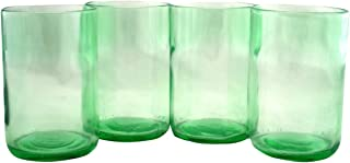 product image for Tumblers Drinking Glasses Made From Recycled Wine Bottles 12 Oz - set of 4 (Mint, 12 Oz)