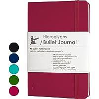 Hieroglyphs Bullet Journal/notitieboek A5 dotted - met Nederlandstalige methode - genummerde pagina's, opbergvak, drie…
