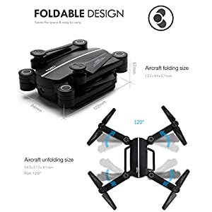TOZO Q1012 X 8tw Drone RC Quadcopter Altitude Hold Headless RTF 3D 360 Degree FPV VIDEO WIFI 720P HD Camera 6 axis 4CH 2.4Ghz Height Hold Easy Fly Steady for learning, Black